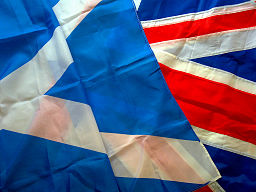 256px-Scottish_and_British_flags