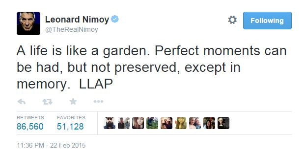 copyright @TheRealNimoy