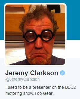 Jeremy Clarkson Twitter profile copyright @JeremyClarkson