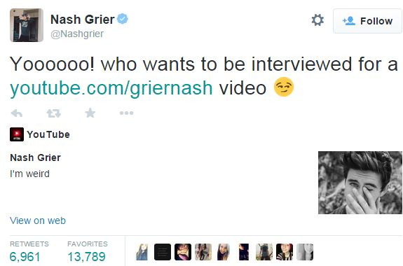 Copyright @NashGrier  Twitter