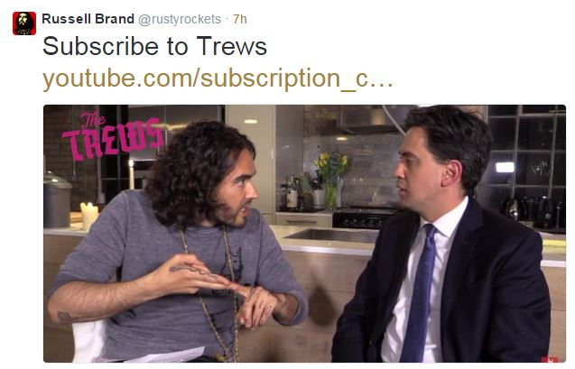Russell-Brand-Ed-Milliband-Twitter  © @RustyRockets/Twitter