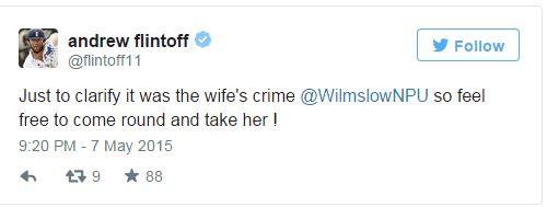 Flintoff tweet 1 © @flintoff11