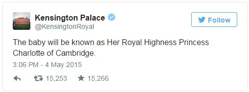 Kensington Palace name tweet 2