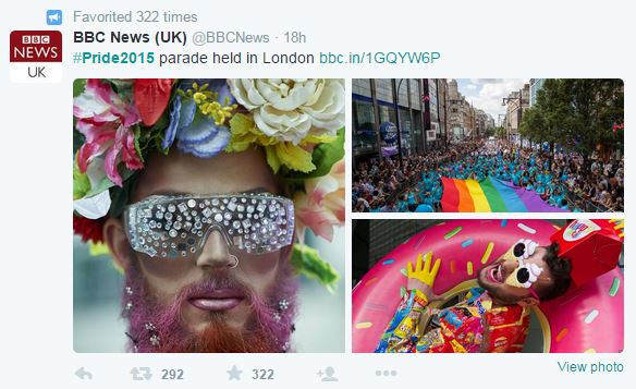 BBC London Pride Tweet