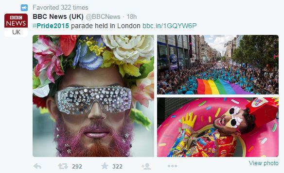 BBC London Pride Tweet