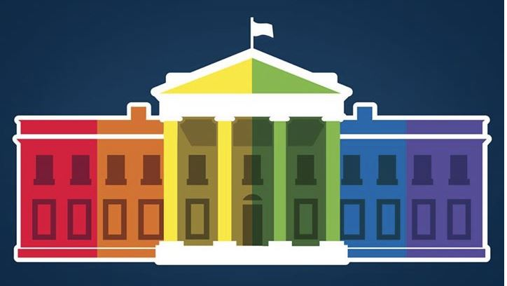 White House facebook logo Rainbow