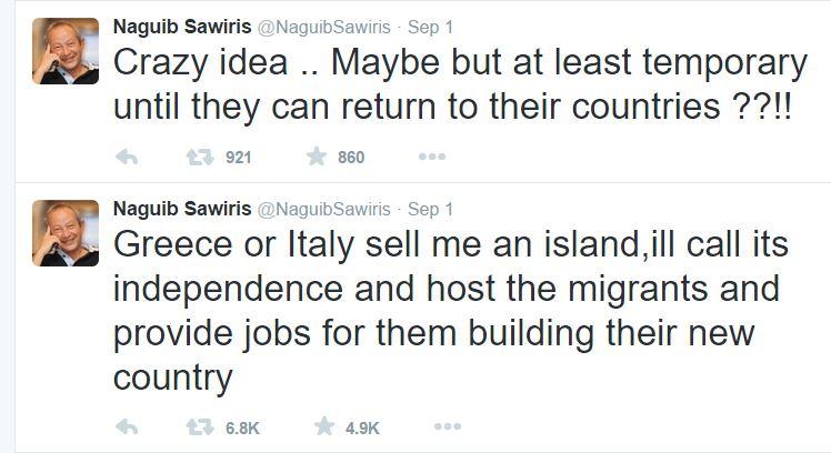 Naguib Sawiris tweets