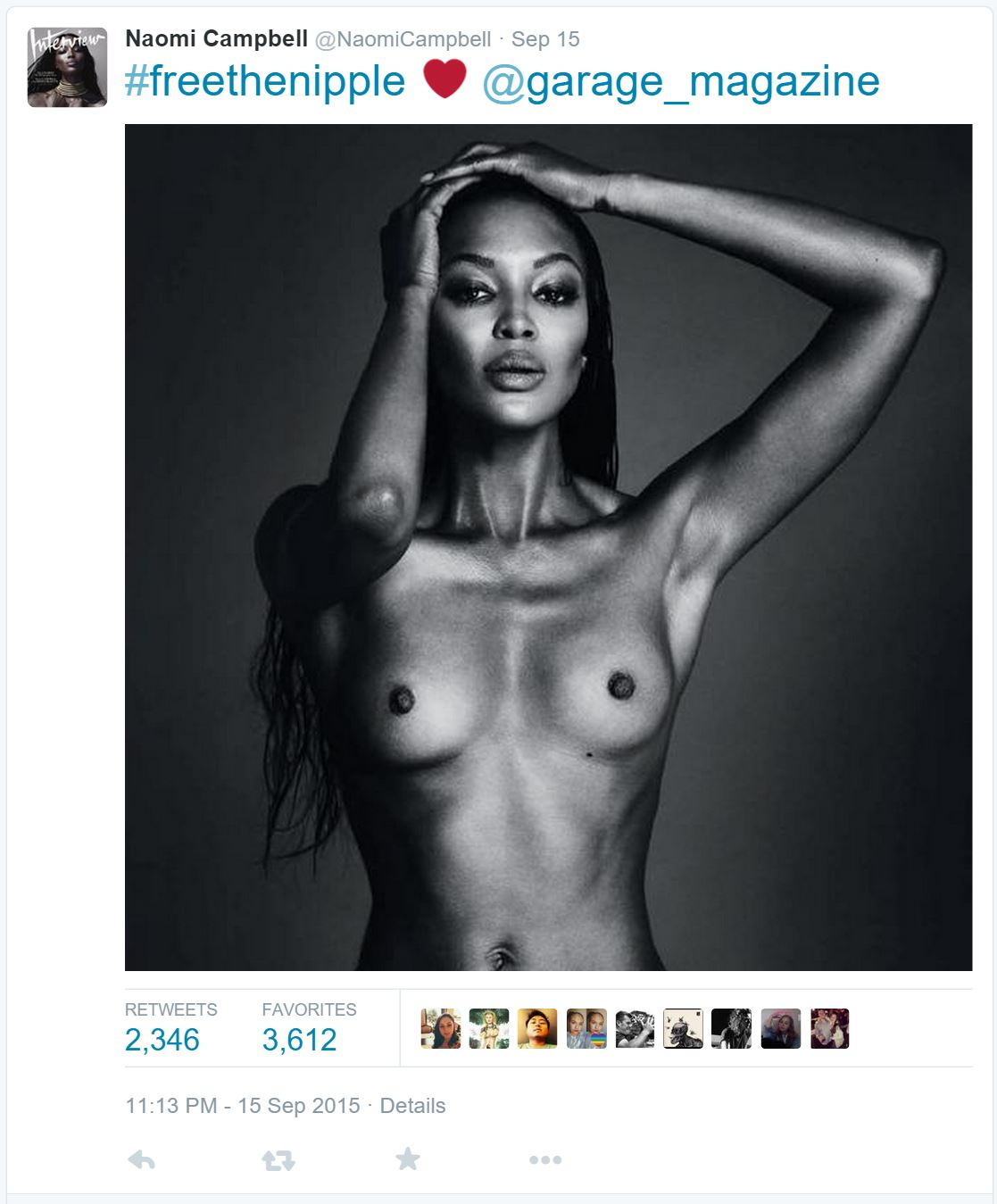 Naomi Cambell Free the Nipple Tweet
