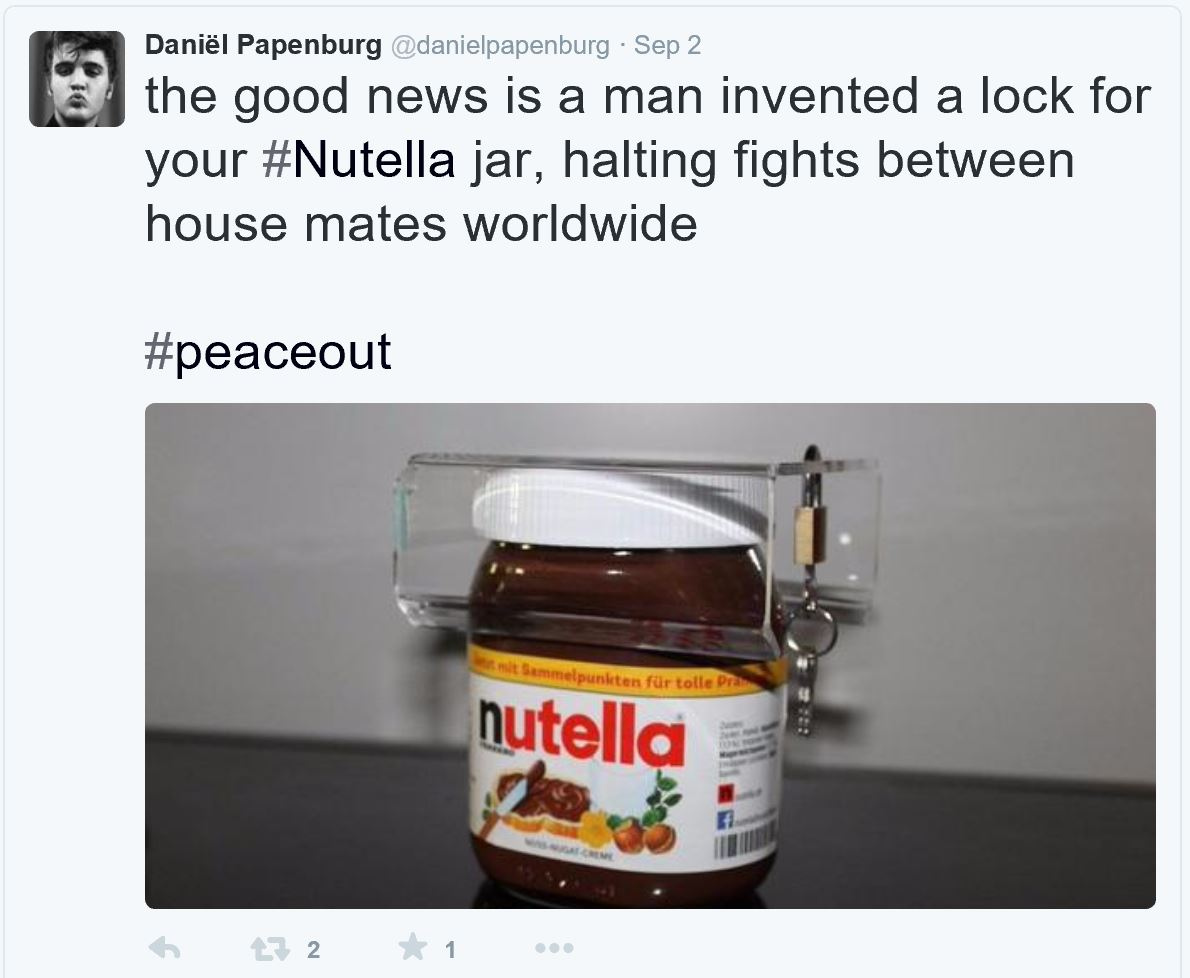 Nutella lock tweet