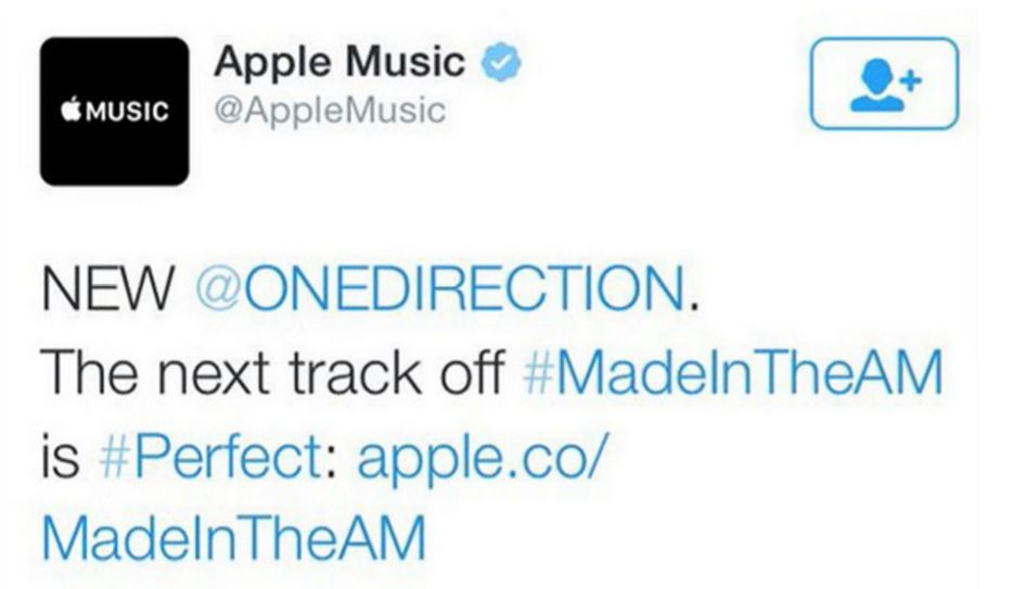 Apple Music 1D tweet