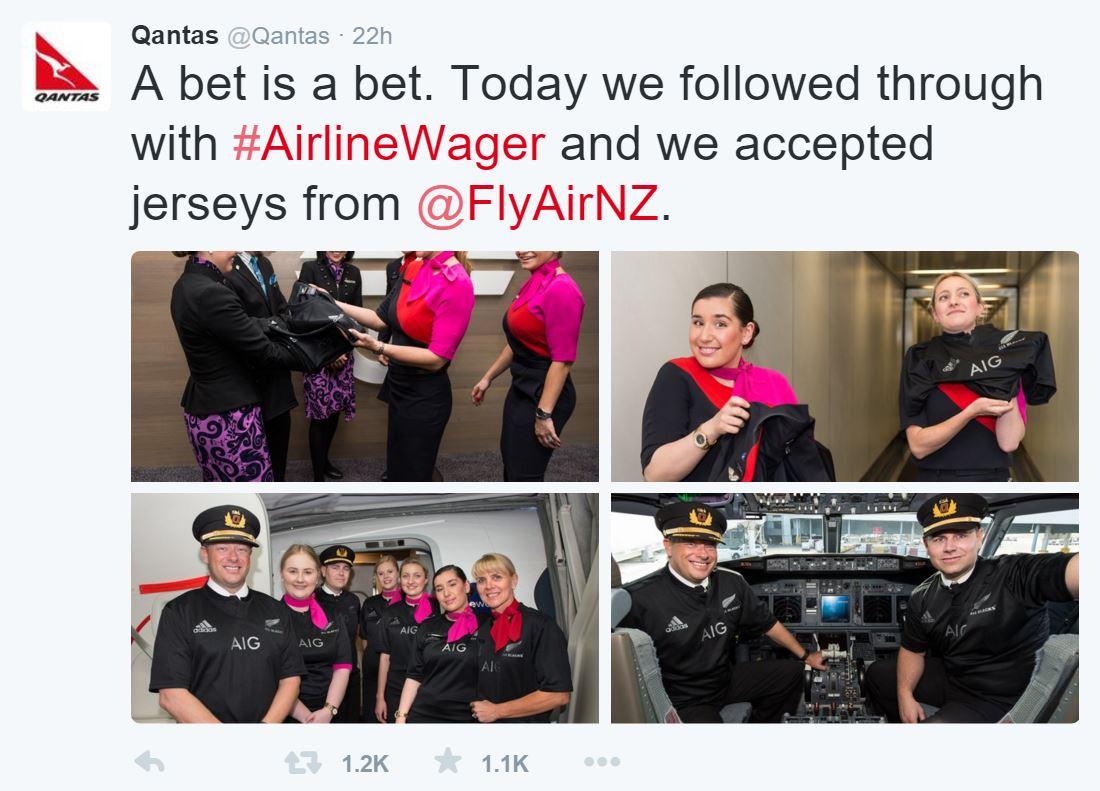 Qantas twitter bet