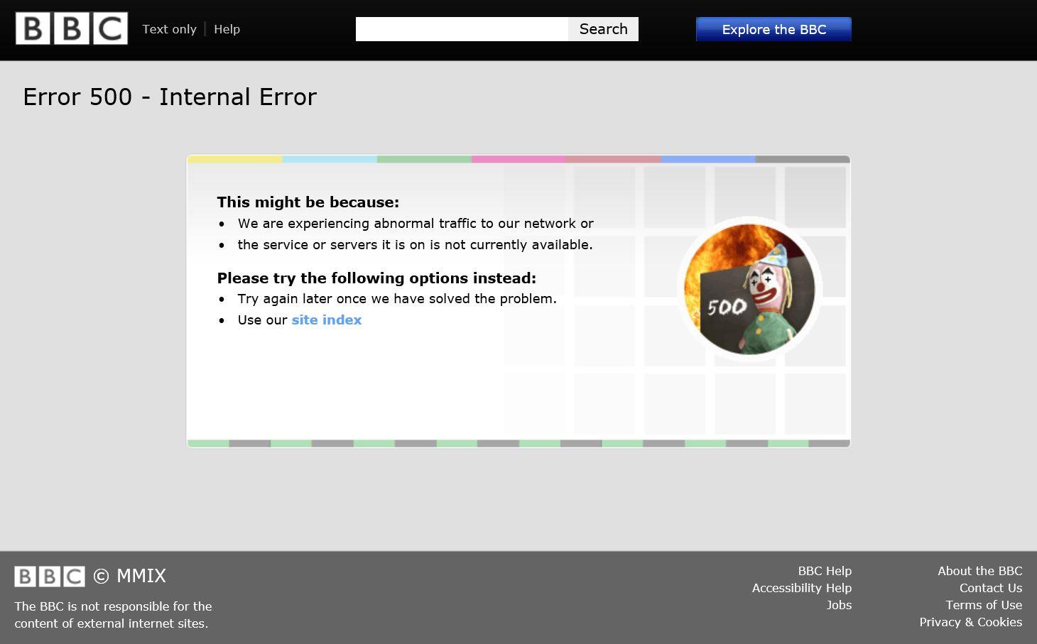 BBC Error 500