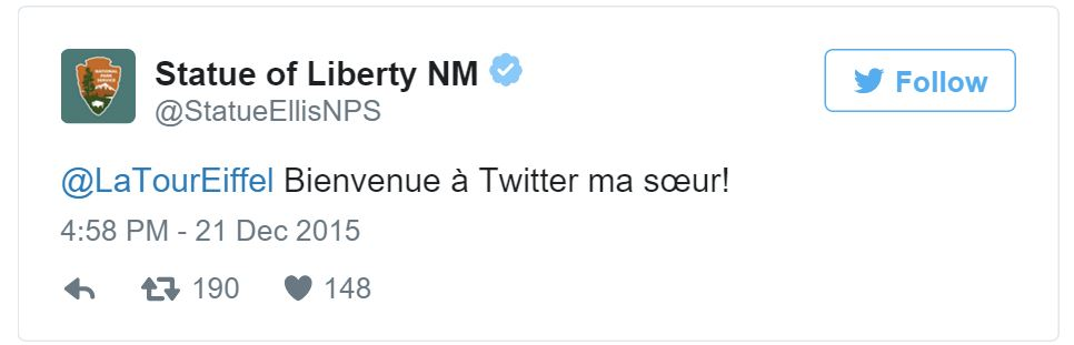 Staue of Liberty Tweet