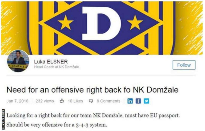 LinkedIn football ad