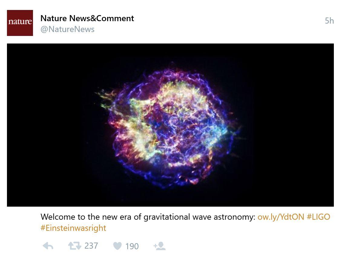 Nature tweet