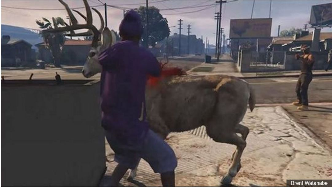 CGI deer in Grand Theft Auto