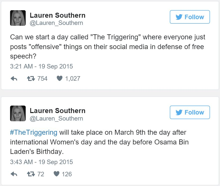 Lauren Southern Tweets
