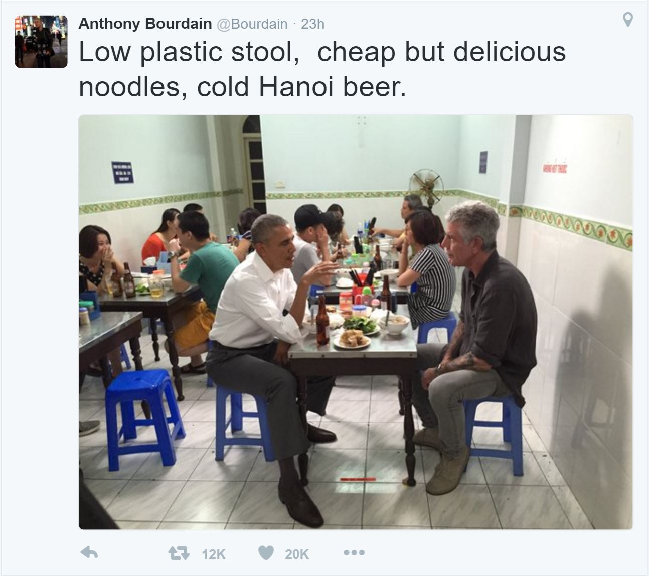 Anthony Bourdain tweet
