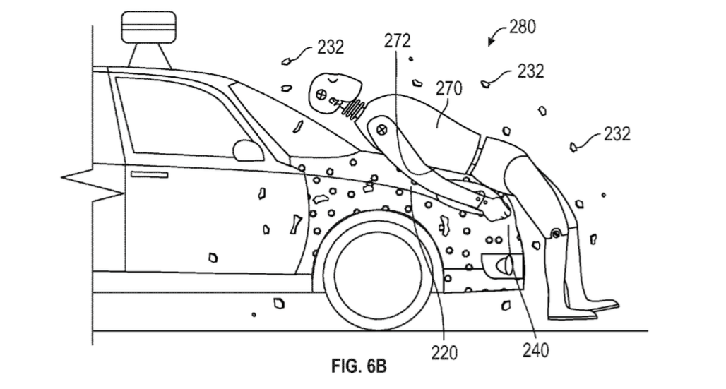 Google car fly paper patent diagram