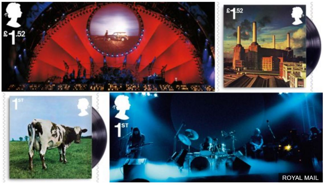 Royal Mail Pink Floyd stamps